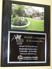 2008 Award of Excellence from Landscape Ontario